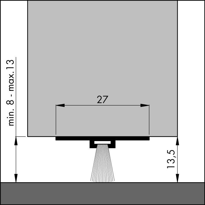 0307091 ALU 100CM Elton DBS-Türbodendichtung Nr.0307091 Alu 100cm